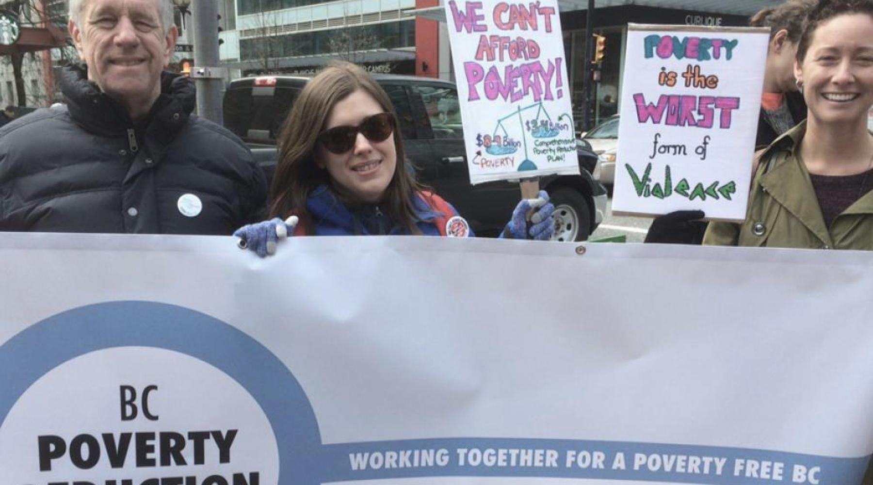 BC Poverty Reduction Coalition actively campaigns